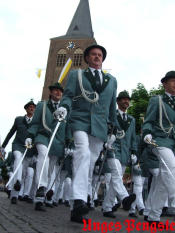 Marschieren in Parade