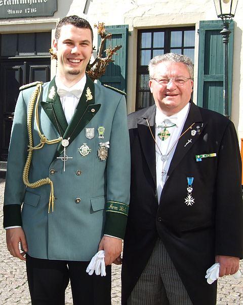Andreas v.d. Kraan und Peter Schlösser-Präsidenten der Korschenbroicher Bruderschaften