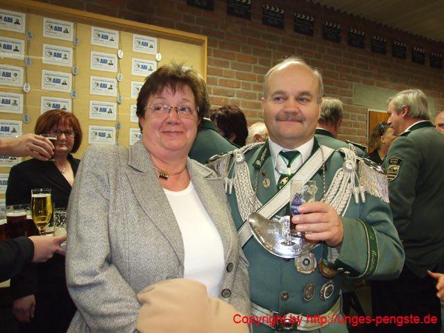 Oberst Rolf Winkens mit Ehefrau Maritée