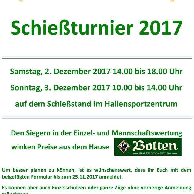 Schießturnier der Sebastianer 2017