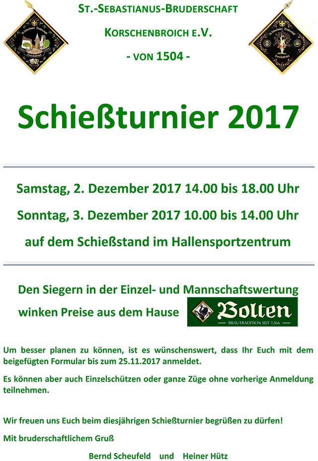 Schießturnier 2017