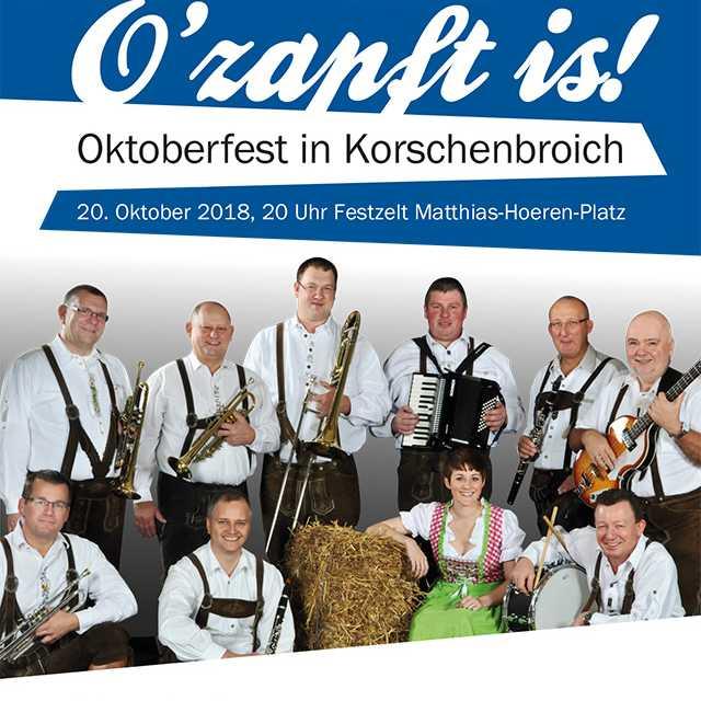 O´zapft is! Oktoberveranstaltungen in Korschenbroich
