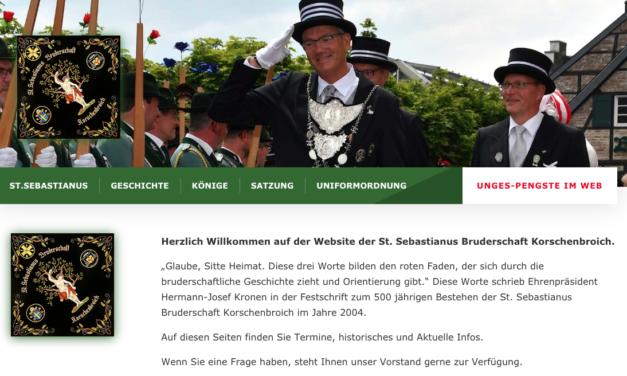 Sebastianer jetzt mit eigener Website am Start