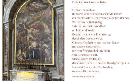 "Aufruf der Schützen zum Gebet in der Corona-Krise ""Heiliger Sebastian, beschütze uns"""