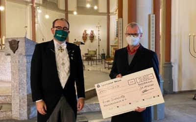 Virtuelles Schützenfest – Übergabe des Spendenchecks